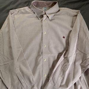 Brooks Brothers Striped Oxford Shirt (XXL)